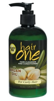 Image of Hair One Cleanser and Conditioner with Argan Oil for Curly Hair