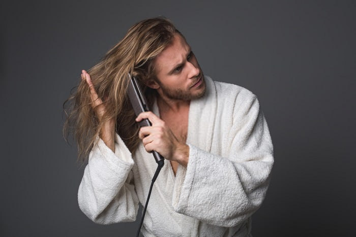 How to Straighten Hair for Men