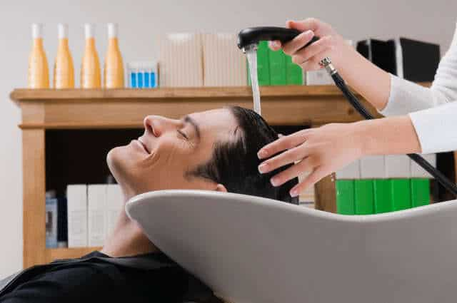 Image of hair treatment for men.