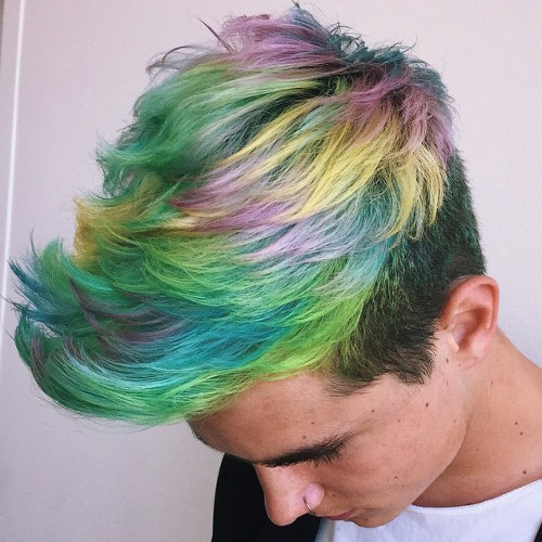 Rainbow locks. Via Hairflips