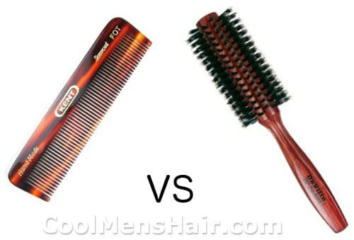 photo hair comb vs brush