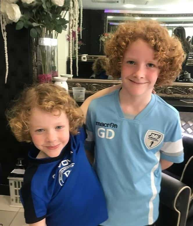 little boys with natural blonde curly hair