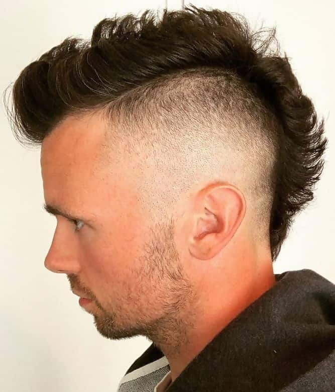 mohawk styles for men with thin hair