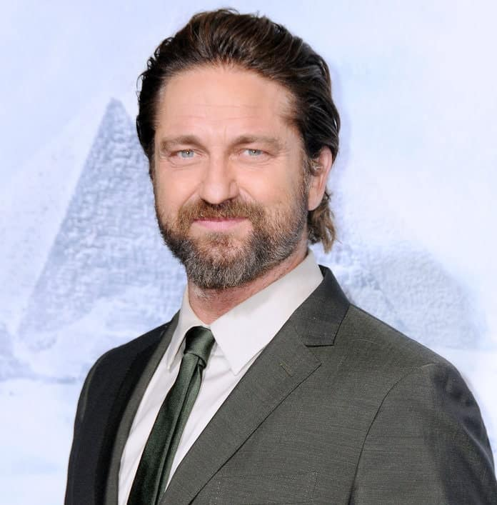 Gerard Butler hairstyle for round face shape