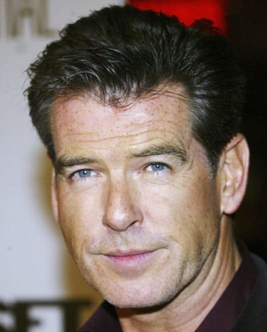 Piers Bronson's quiff hairstyle