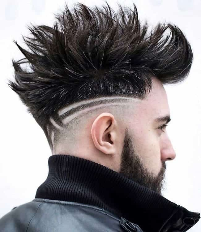mohawk for men's thick hair