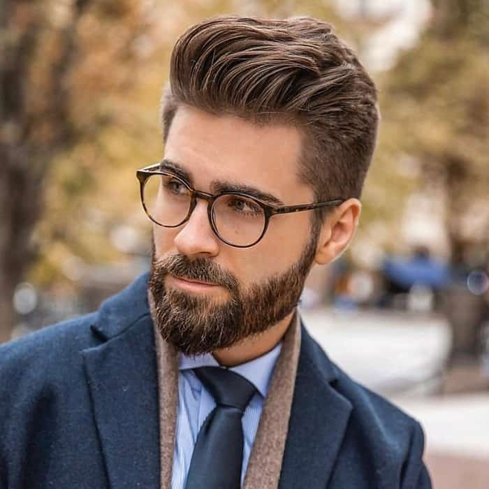mens' thick hairstyle