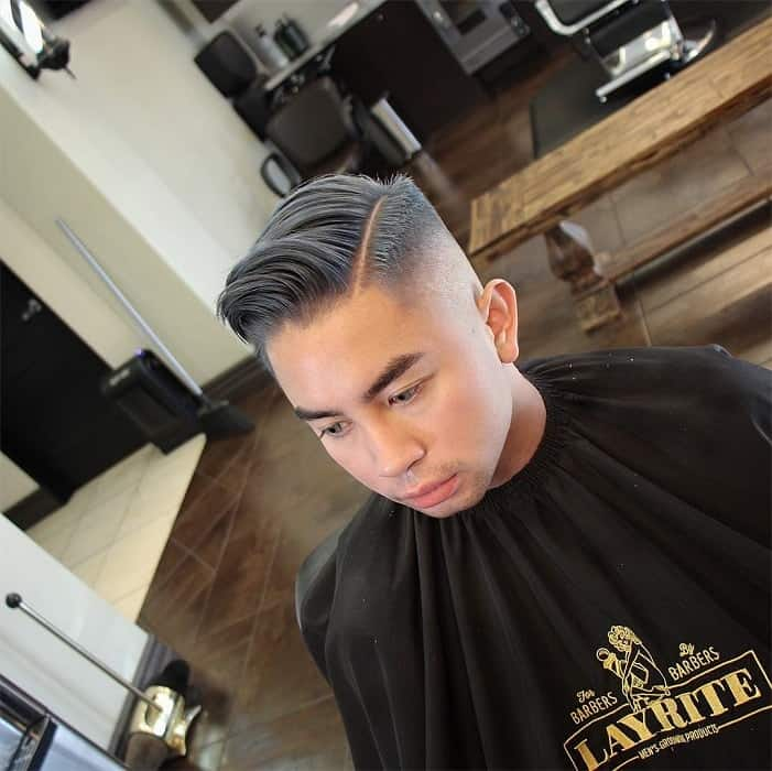 comb over hairstyle for men with round face