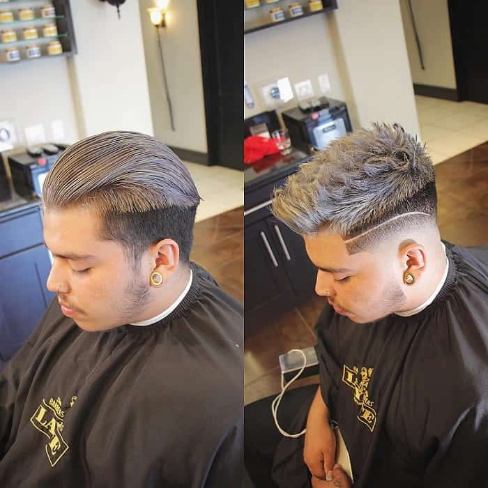 Silver Blonde Taper Fade for Fat Guys