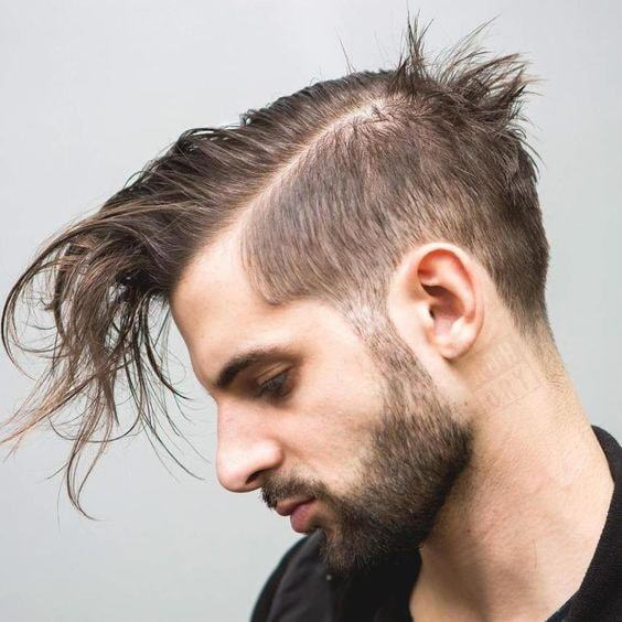 long thin hairstyle for men