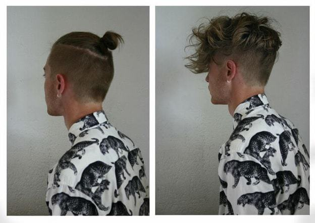 top knot hairstyle for men