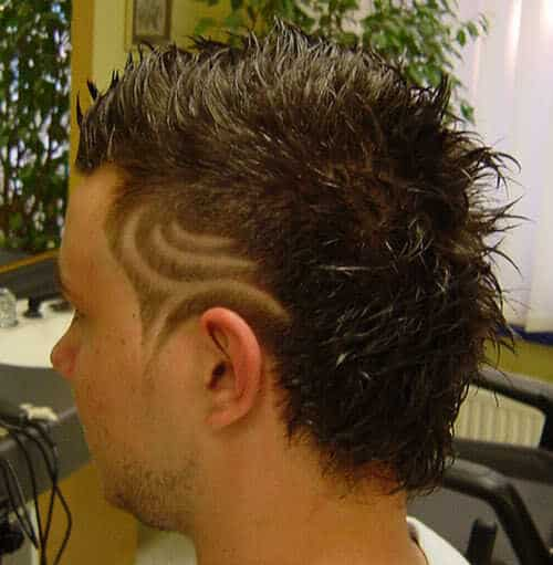 Mens hair tattoo picture.