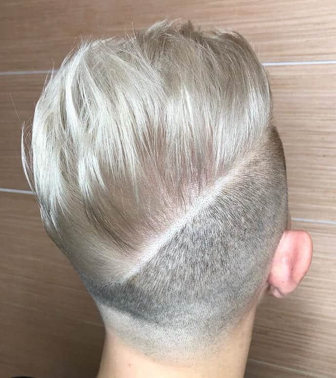diagonal hard part haircut