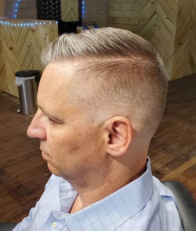 hard part haircut for thick hair