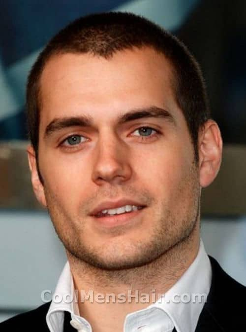 Image of Henry Cavill buzz cut hairstyle.