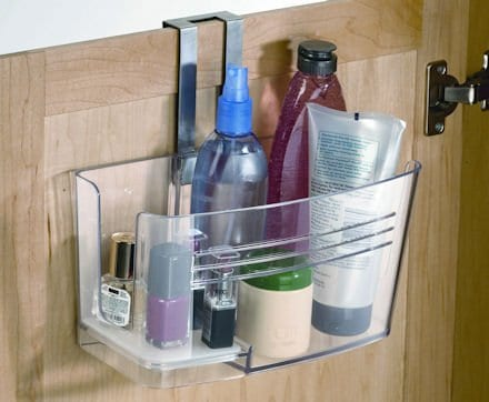 Image of Hide Away Hair Dryer Holder Bathroom Organizer.