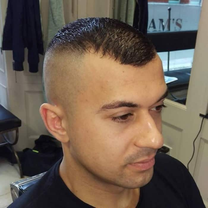 high and tight haircut for short hair
