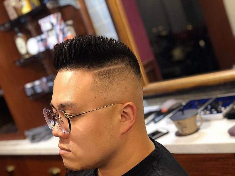 high and tight fade with hard line