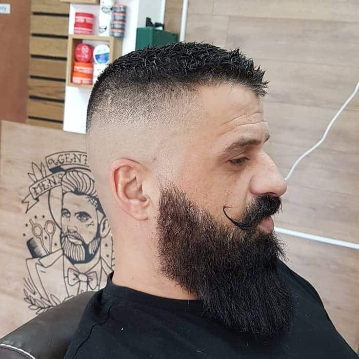 guy with high and tight skin fade haircut