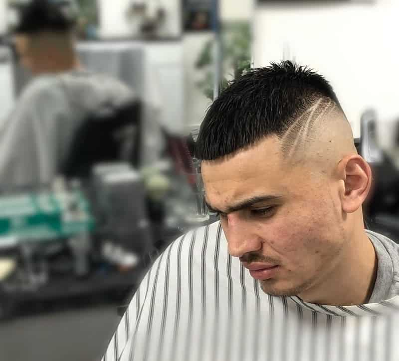 high and tight fade with design