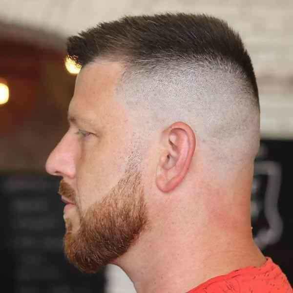 high and tight with bald fade