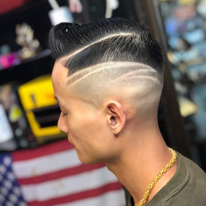 guy with high bald fade hairstyle