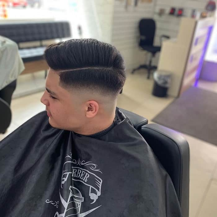 Classic High Fade Comb Over