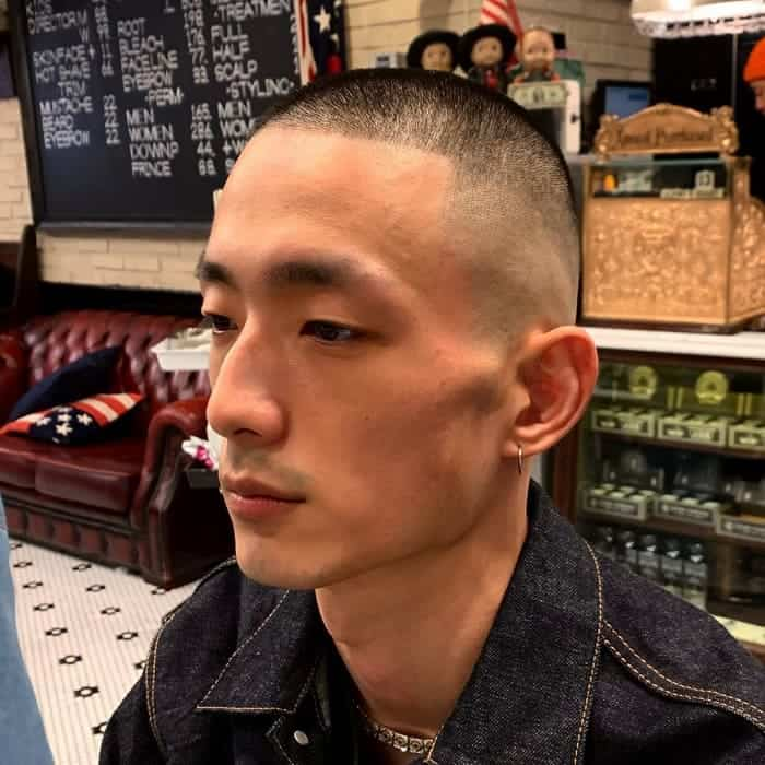 Buzzcut with High Skin Fade
