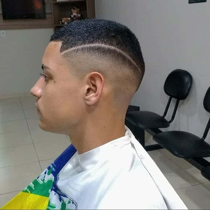 Disconnected High Skin Fade Haircut