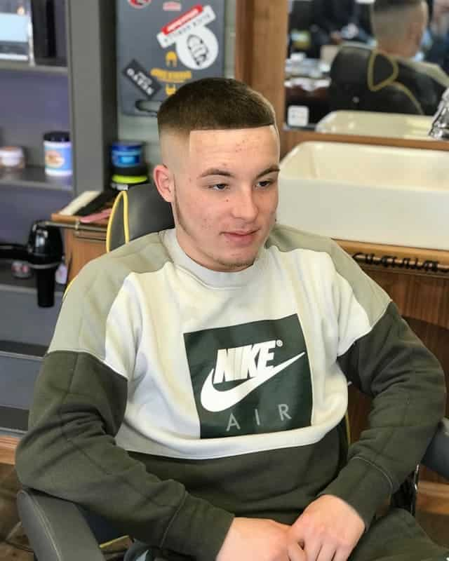 guy with high skin fade haircut