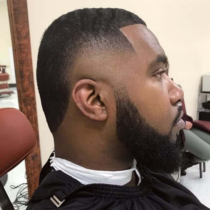 high taper fade with Beard