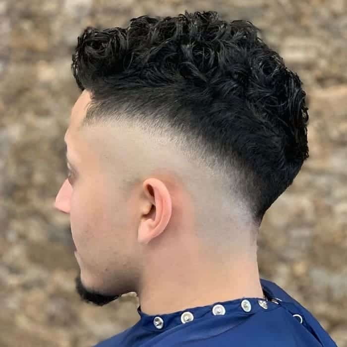 High Temp Fade for Curly Hair
