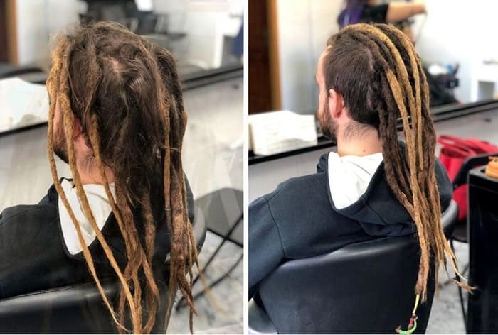 dreads with fade for long hair