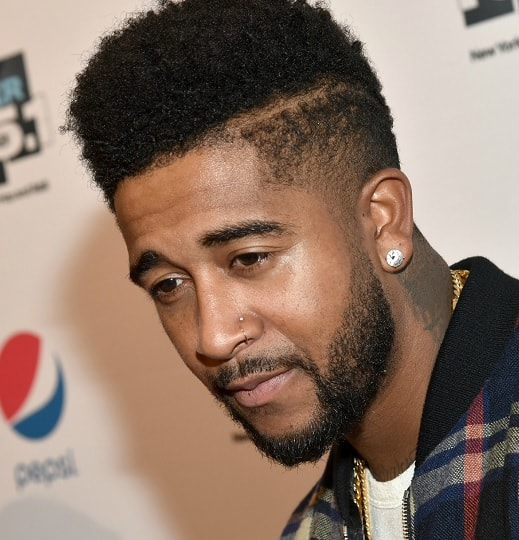 high top fade hairstyle by Omarion