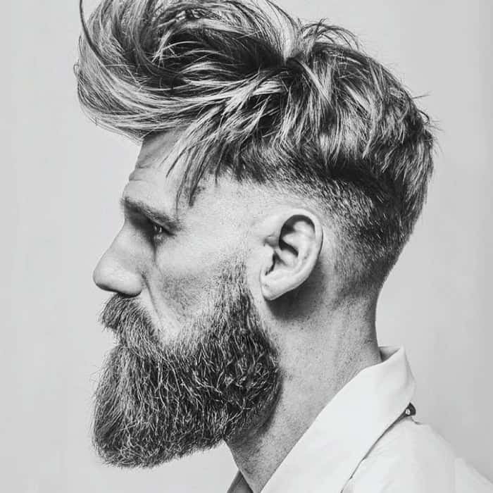 hipster guy with voluminous hairstyle