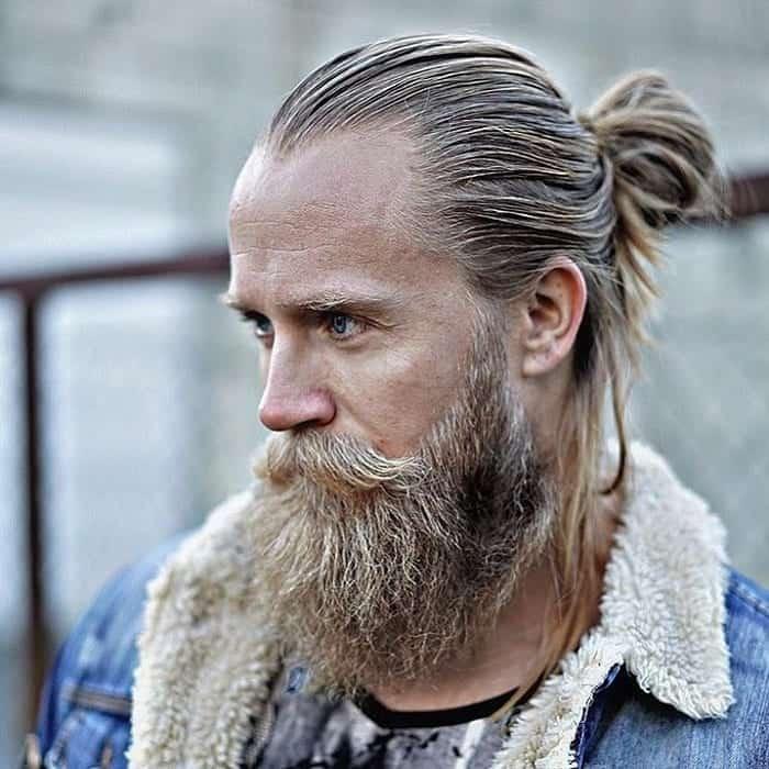hipster guy with sleek man bun