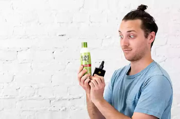 products needed to grow a man bun