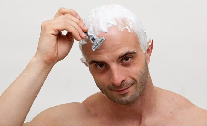 ways to get shiny bald head