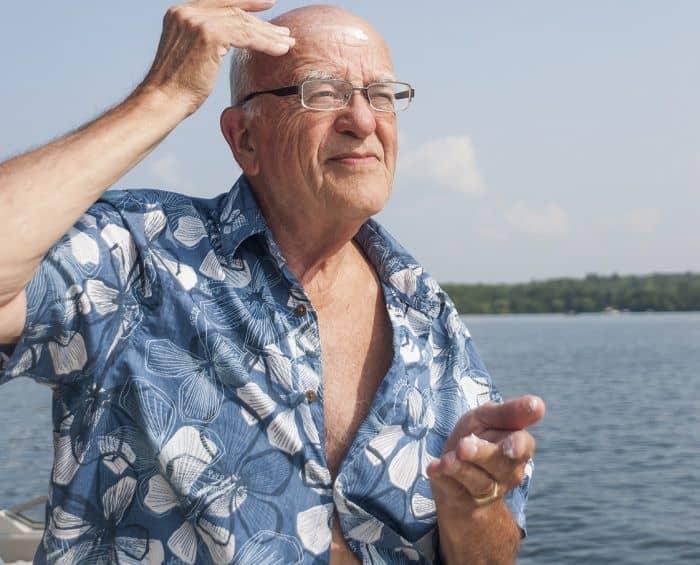 sunscreen to get a shiny bald head