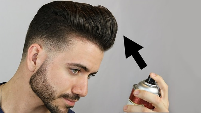 using hairspray to style cowlick hair