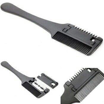 Dual Side Cutting Slim Haircuts Blade Hair Razor Comb Scissor