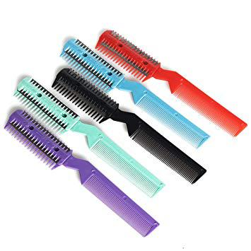 Hair Razor Grooming Comb with Blades for Trimming