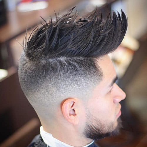 sharp curly hair mohawk for guys
