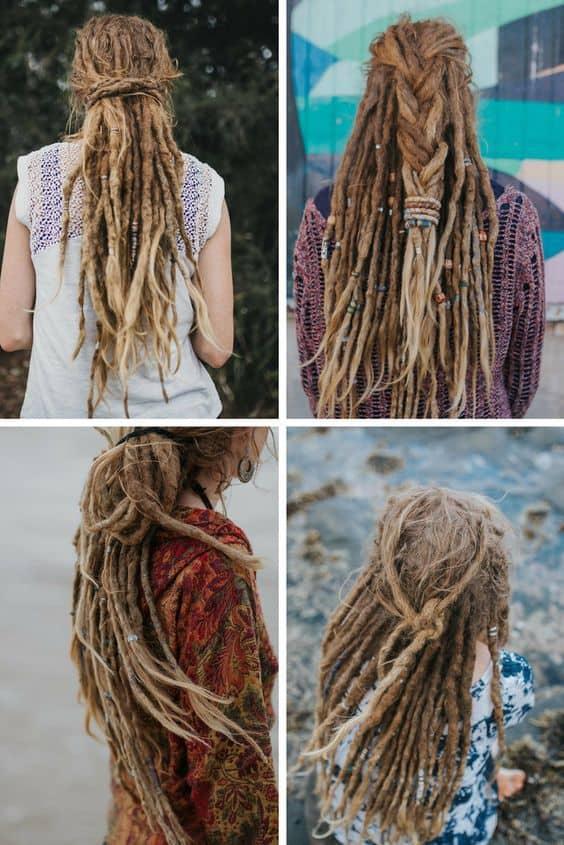 Braided Dreadlocks for Curly Long Hair
