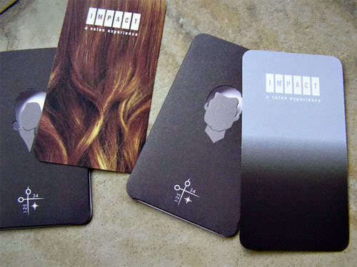 Impact Hair Salon business card