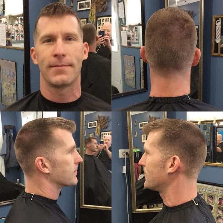 guy with extended ivy league crew cut