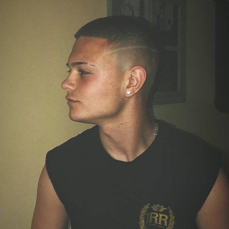ivy league crew cut with fade