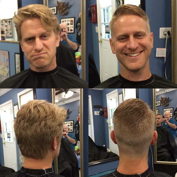 messy wavy ivy league haircut