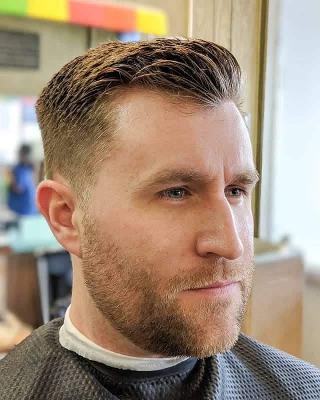 brushed up ivy league haircut