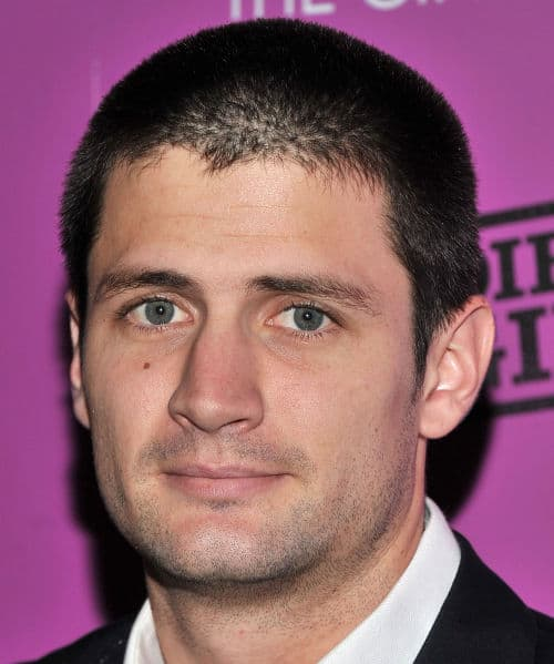 Photo of James Lafferty long buzz cut.